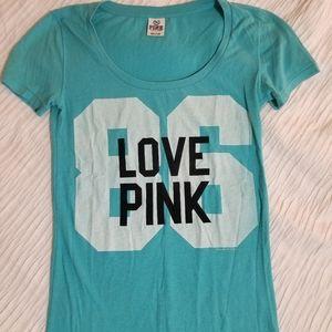 Victoria's Secret Pink Blue 86 Love Pink Tshirt